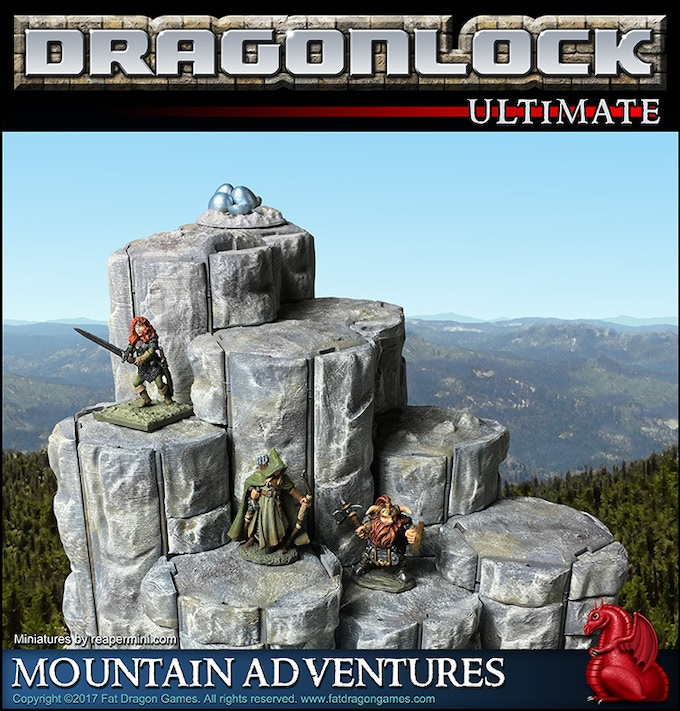 Sample layout from the 'Mountain Adventures' pledge level.