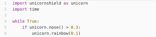 This is the python code