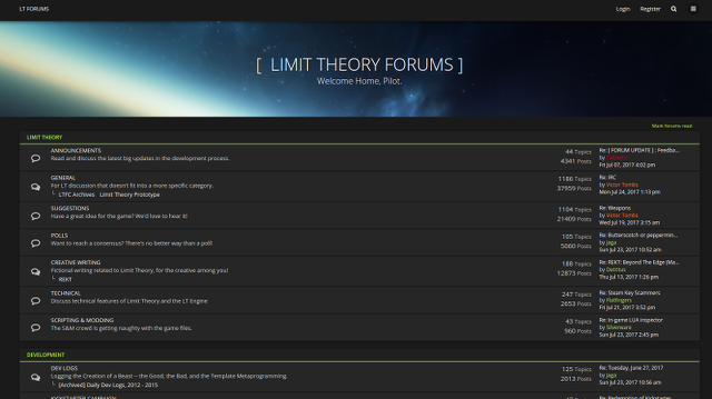 Limit Theory: An Infinite, Procedural Space Game by Josh