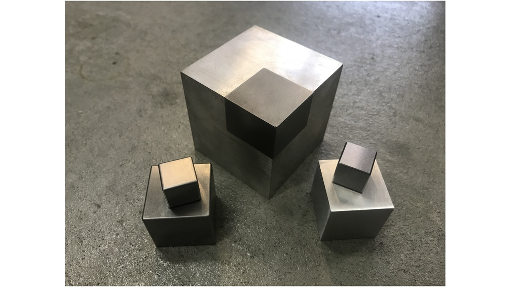 50|50 Cube - Precision Desktop Dual Metal Element Block project video thumbnail