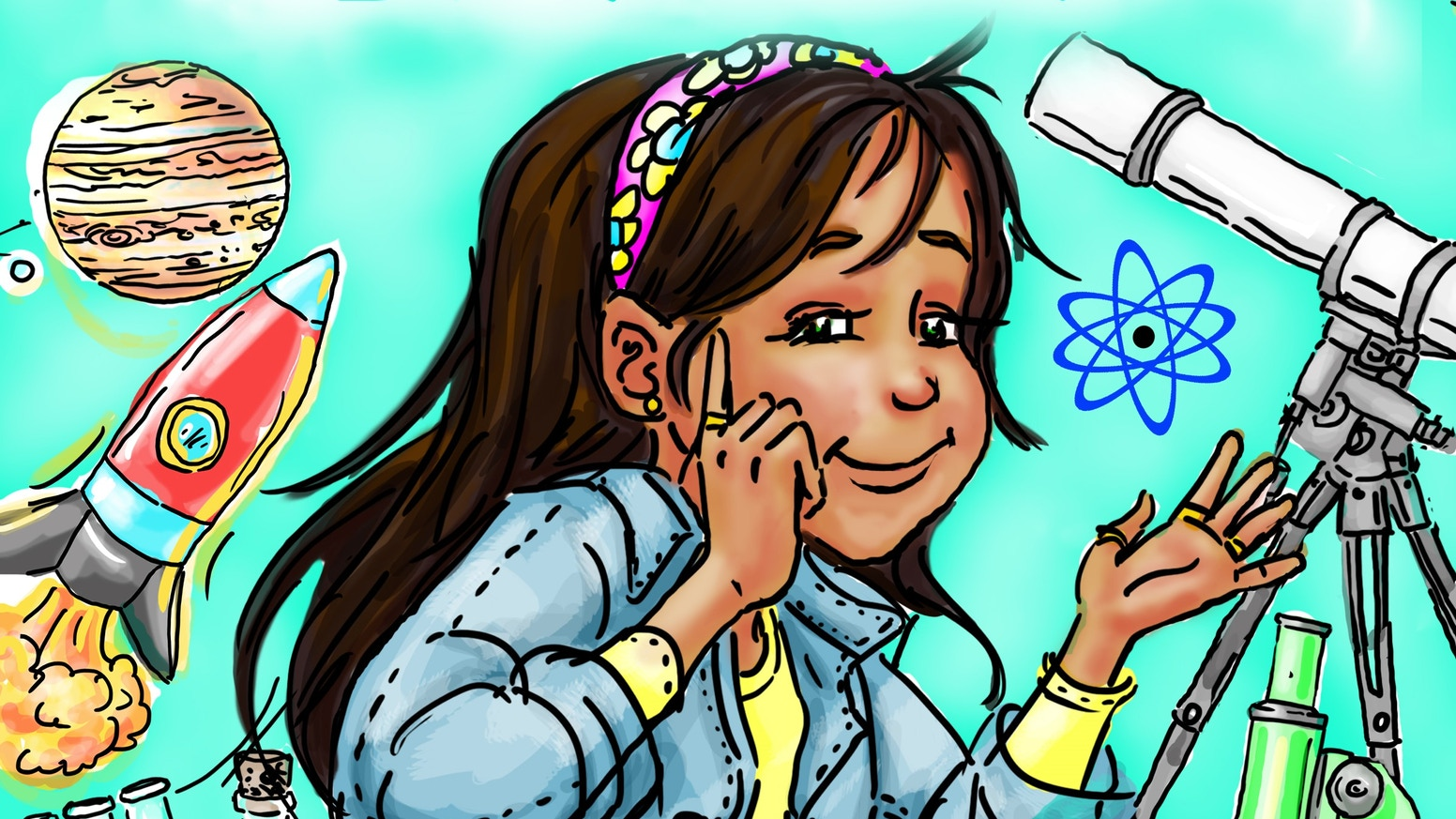 Elara is a young girl who loves Science, Technology, Engineering & Math who conquers obstacles & shows her friends how fun STEM can be!