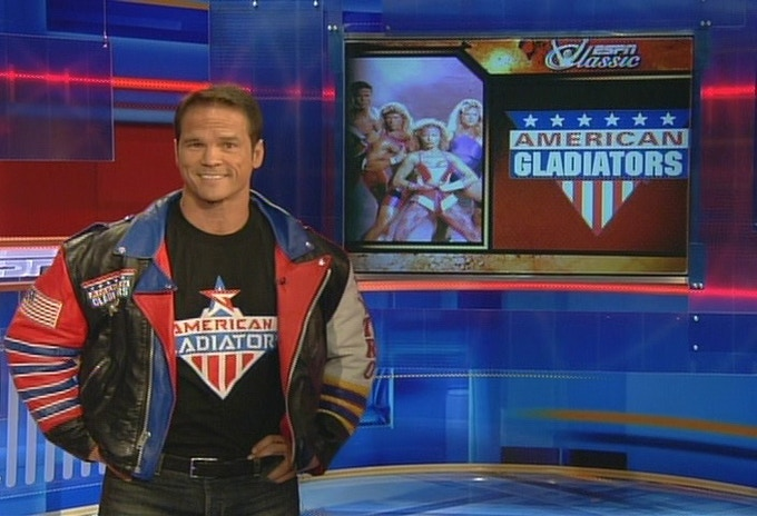 "Dan ""Nitro"" Clark on set of ESPN"