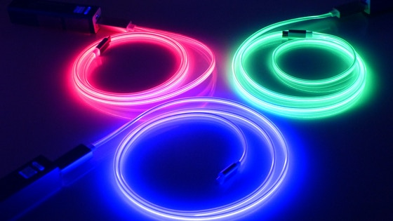 World's First Laser Light Charge & Sync Cable