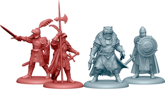 Additional attachments in the Starter Set: Lannister Guard Captain, Lannister Assault Veteran, Stark Umber Champion, Stark Sworn Sword Captain