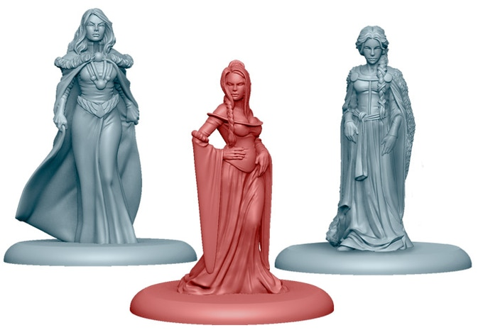 NCU Catelyn Stark, Cersei Lannister and Sansa Stark, included in the Starter Set