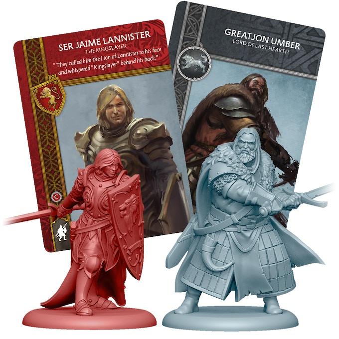 3D Renders of Jaime Lannister, and lord Greatjon Umber
