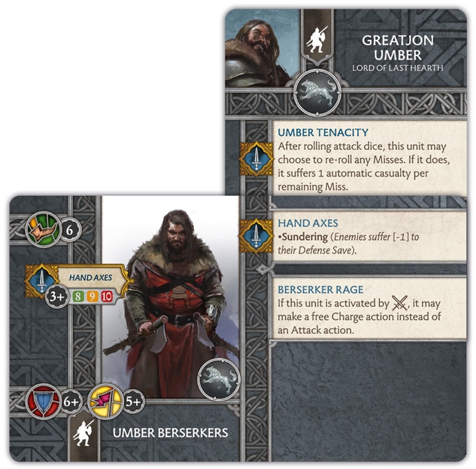 Greatjon Umber attached to the Umber Berserkers