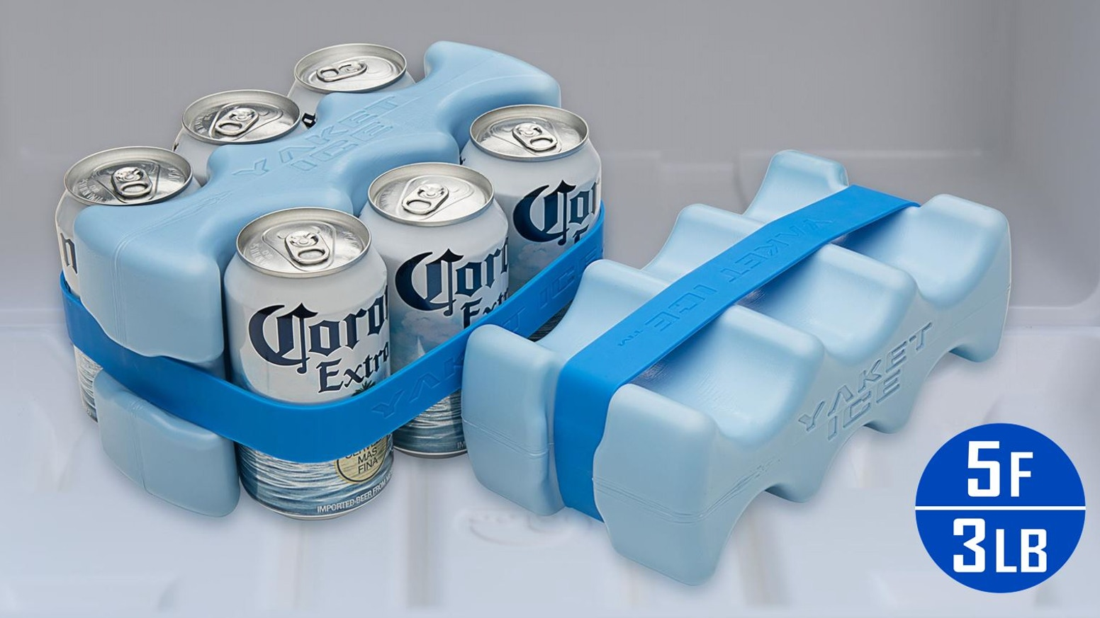 The reinvented scalloped ice pack. Bigger, colder, with an innovative ice strap.  The only ice you'll need for your cooler!