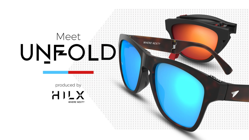 Hilx Unfold: World's Most Compact Lifestyle Sunglasses project video thumbnail