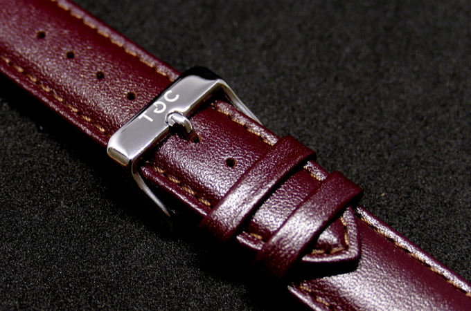 Strap: Red Brown Leather