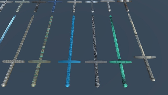 Literally hundreds of visual variations of swords, this is only a small sample!
