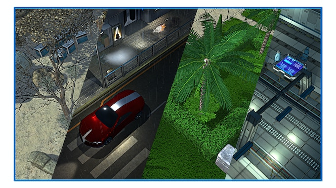 Examples of different game environments