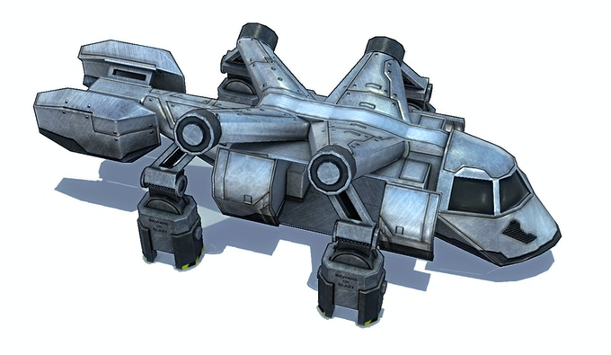 Your team is using an old modified cargo-ship for transportation