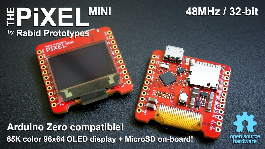 Pixel mini the tiny arduino compatible smart display by