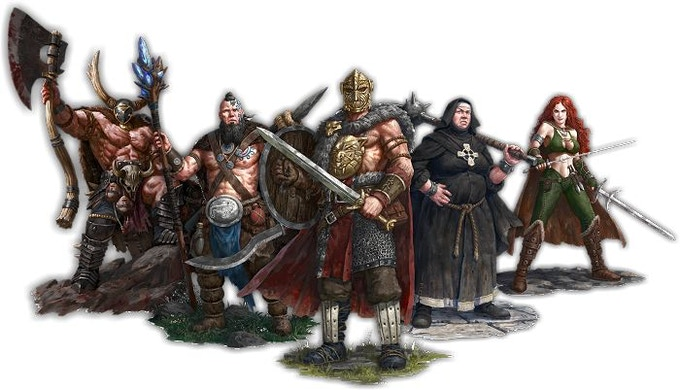Carrowek of Carn Dhu, Gnith, Penda the Bloody-Handed, Nerys and Sáthach