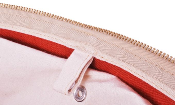 Metal snap buttons and metal zipper