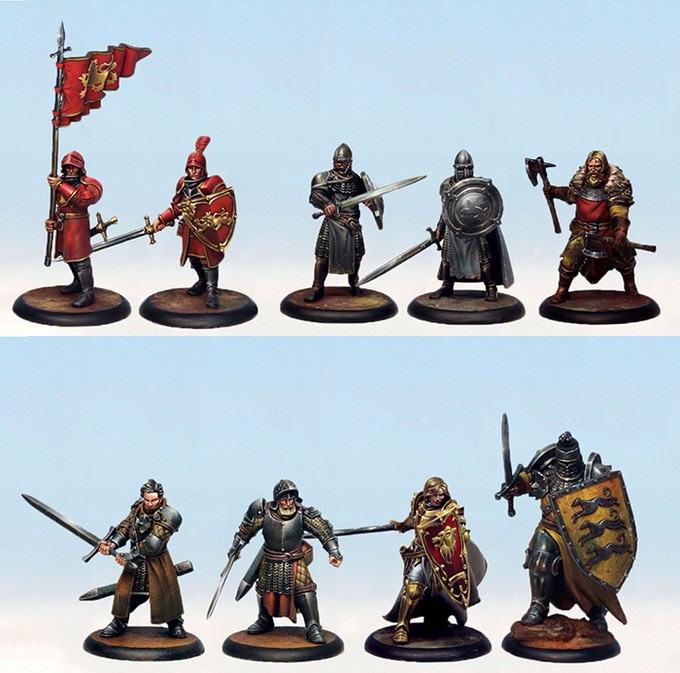 An example of the Starter Set miniatures painted. Note that minis come unpainted!