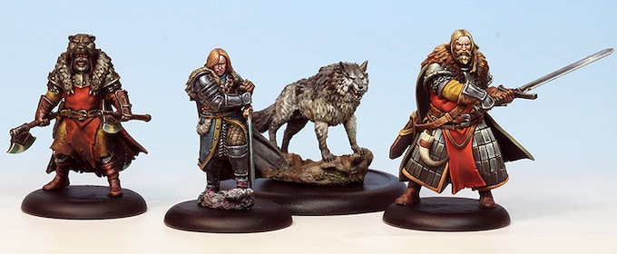 The loyal followers of the Direwolf Banner rally to defend the North! Miniatures come unpainted.