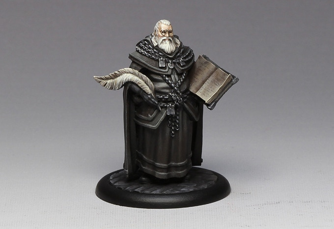 The High Seneschal painted by our studio painter Jen Haley. Please note that this figure comes unpainted for backers!