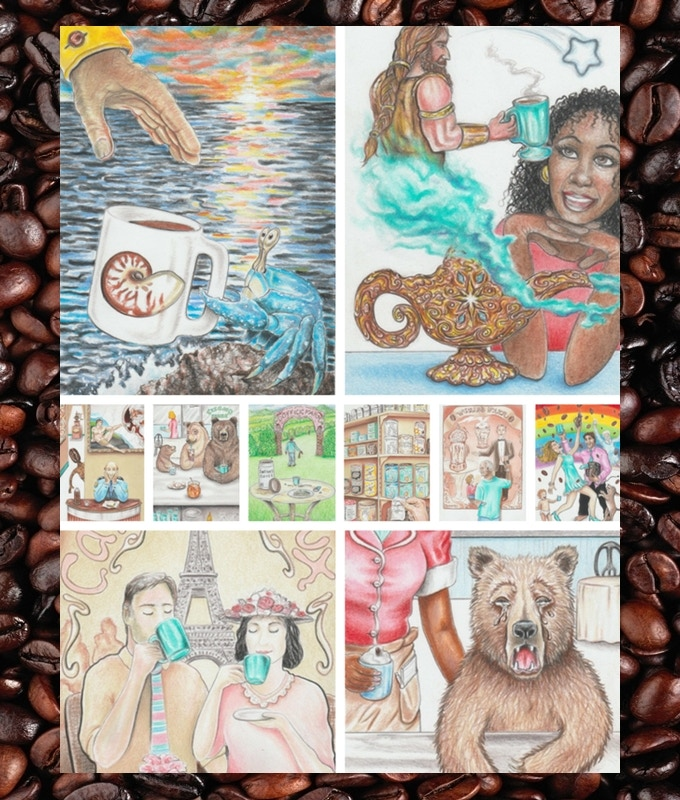 Water (Cups) Suit of the Coffee Tarot