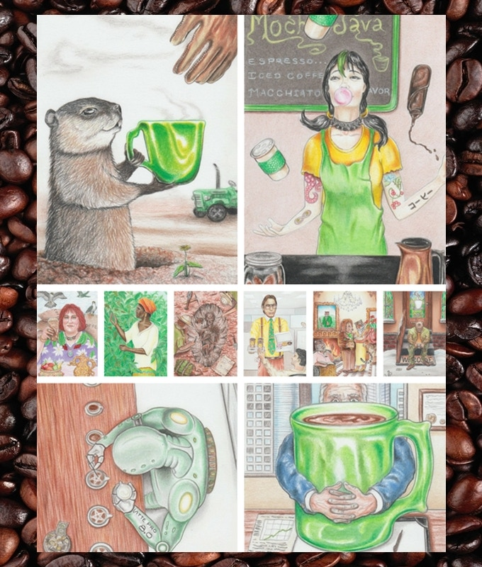 Earth (Pentacles/Coins) Suit of the Coffee Tarot