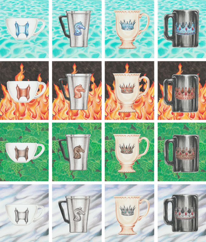 The Court Cards of the Coffee Tarot