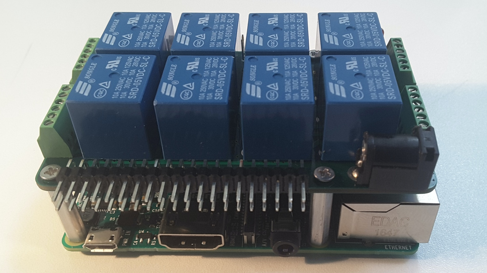 Raspberry Pi Mega Io Expansion Card By Mihai Beffa Startup Wiringpi Install Eight On Board Relays 8 12 Bit Adc Channels12