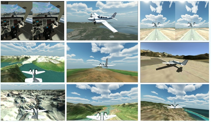 VR Flight Simulator snapshots (mobile version)