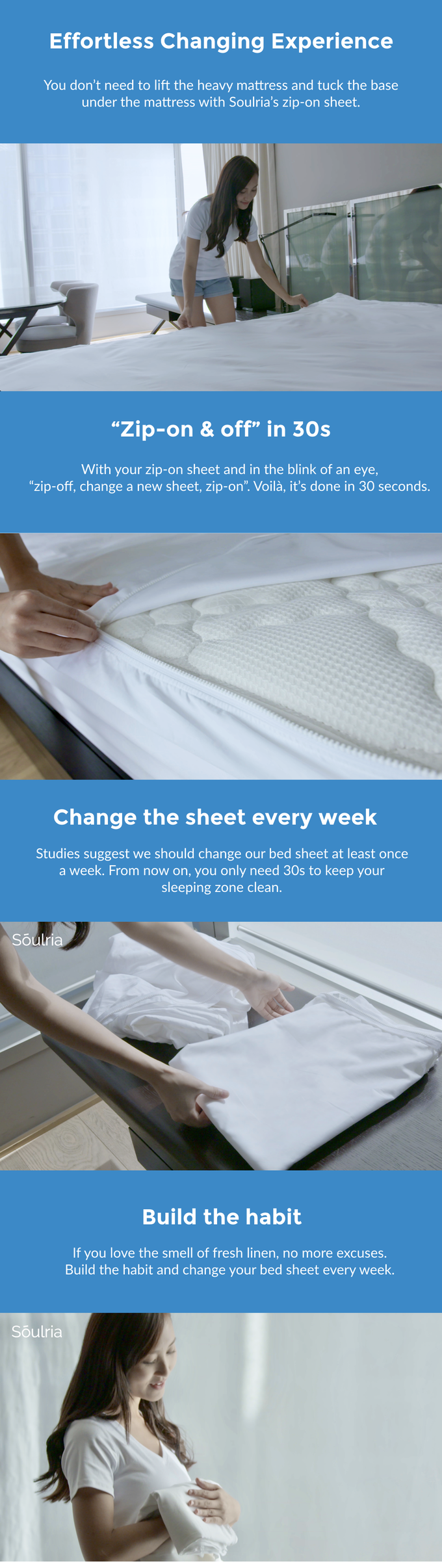 Soulria The Worlds Fastest Bed Sheet Changing Solution Singapore