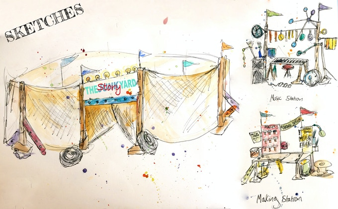 What we will build with your support (sketch: Kirsty Harris)