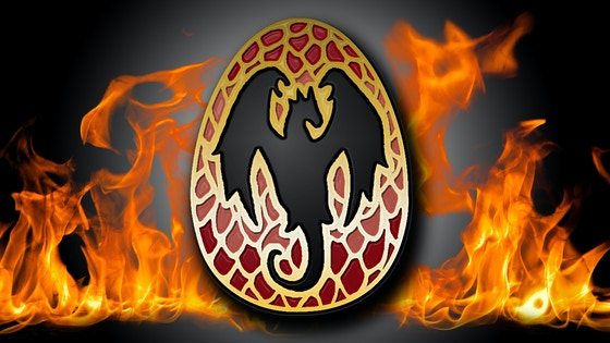 Dragon Egg, enamel pin by Clorty Cat