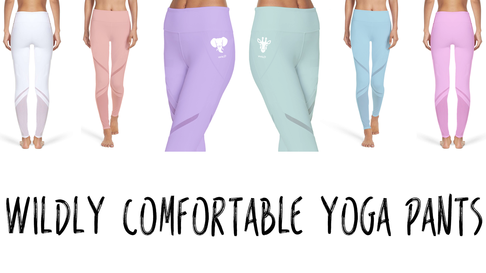 10% of net profits are donated to fund Giraffe and Elephant conservation efforts. Wildly comfortable yoga pants with a cause!