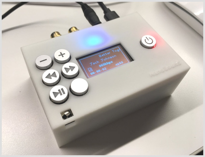 NanoSound fitted with optional case