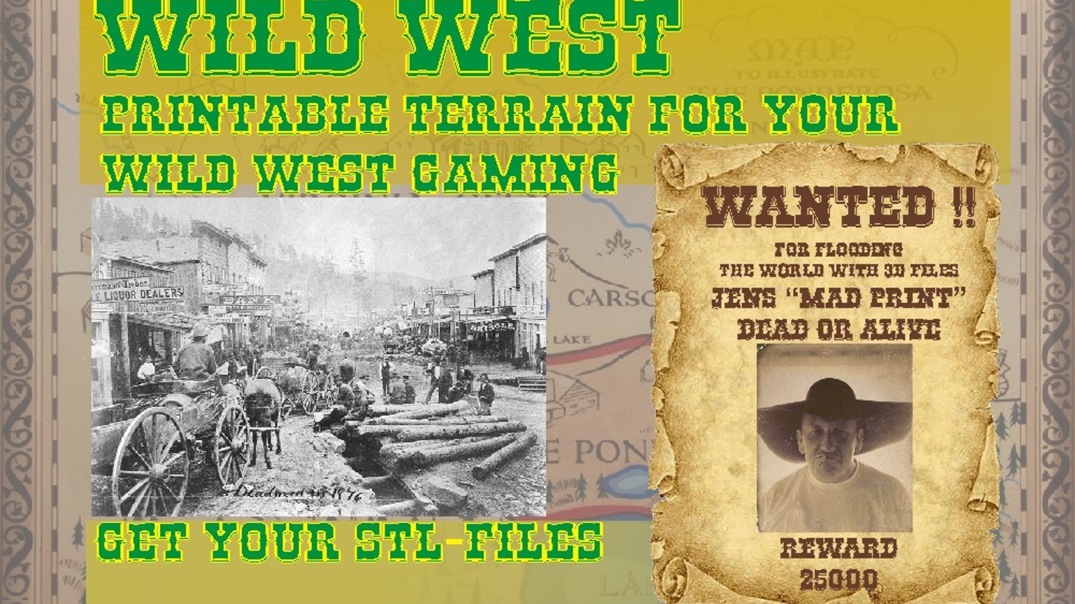 print your terrain for your tabletop Wild West game