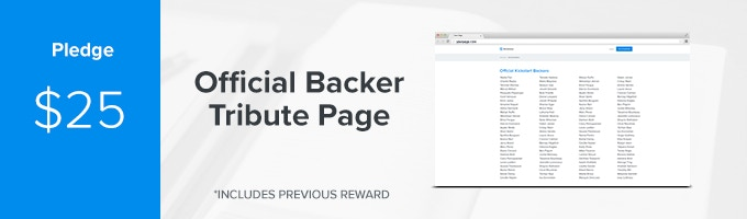 Get your name on the official Sermonary Backer Page on our website. You'll be able to share this page with your friends and show them you helped bring this platform to pastors everywhere. (Includes Previous Rewards)