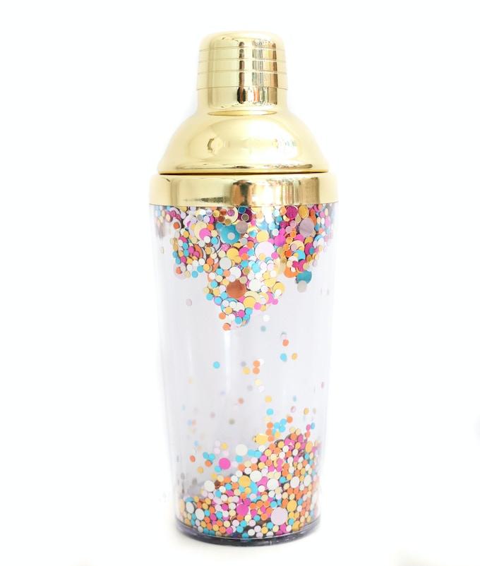 Confetti cocktail shaker