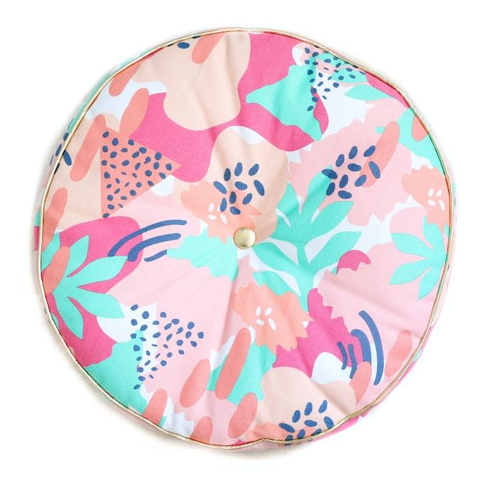 Modern Floral Throw Pillow