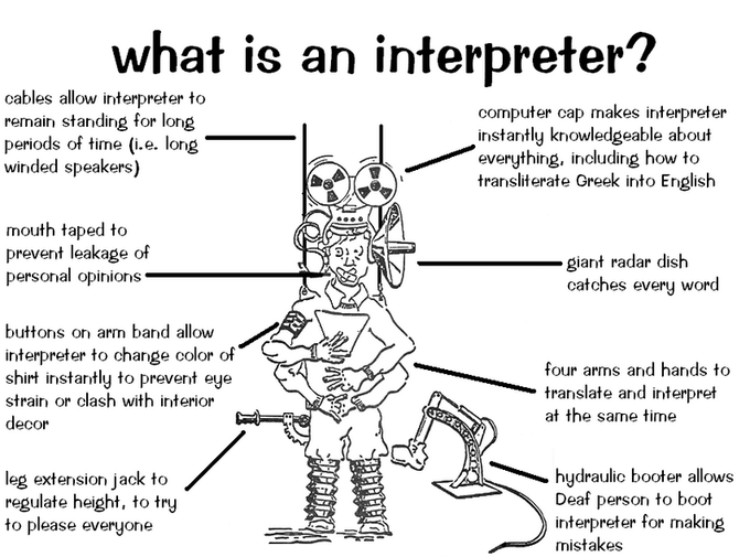 Interpreter jobs are well paid because the difficulty