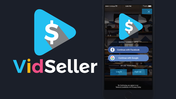 Vidseller App for iOs & Android