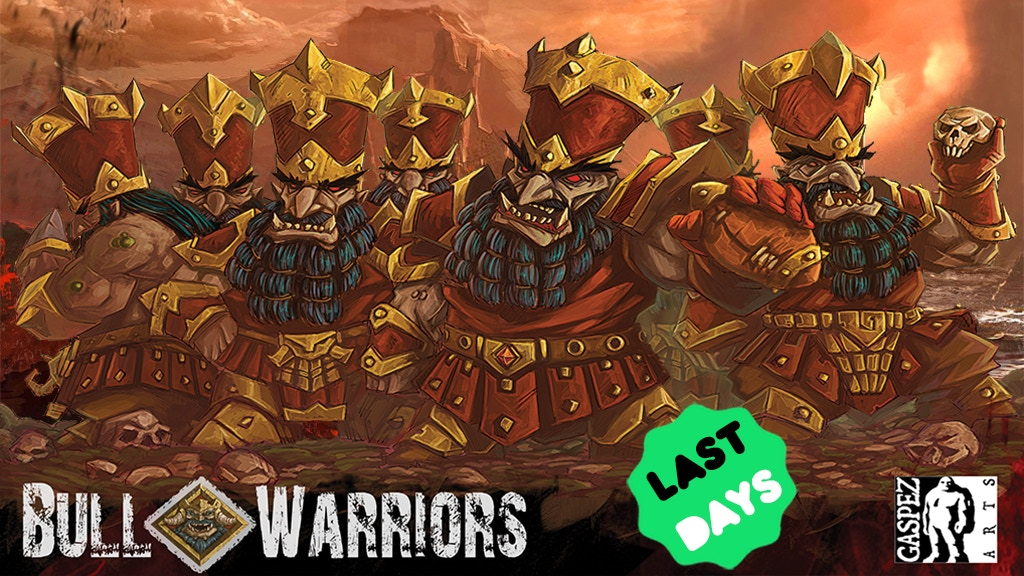 A must-have team from Gaspez Arts! They are bad, they are strong, they are the Bull Warriors Chaos Dwarf for Fantasy Football !