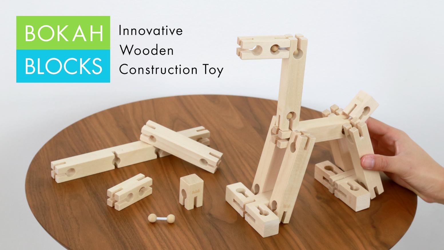 Wooden Construction Toys : Bokah blocks next generation wooden construction toy by