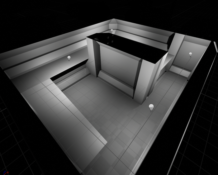 A quick gray box demonstration room.