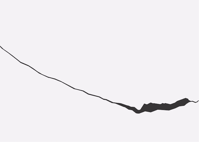 Rendering of Larsen C Ice Shelf Crack
