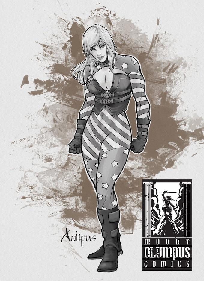 Antipus Metal Trading Card Art