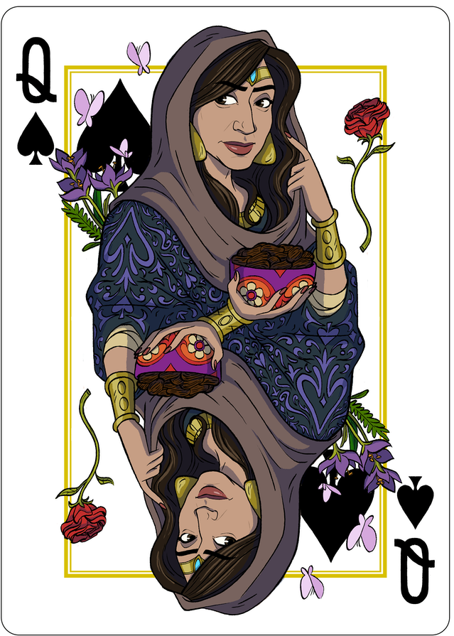 Jinni Playing Cards By Zack Mirza Final Card The Queen Of