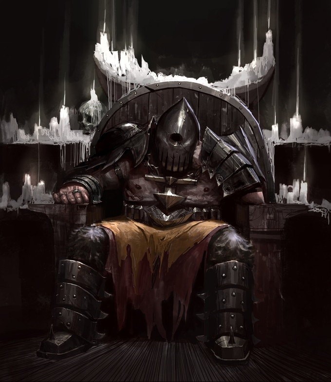 Adonias, one of the old knights was tasked to protect the Temple.