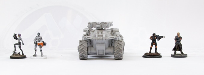 US-IMF : 28mm & 15mm Sci-fi Armour by Antenocitis Workshop