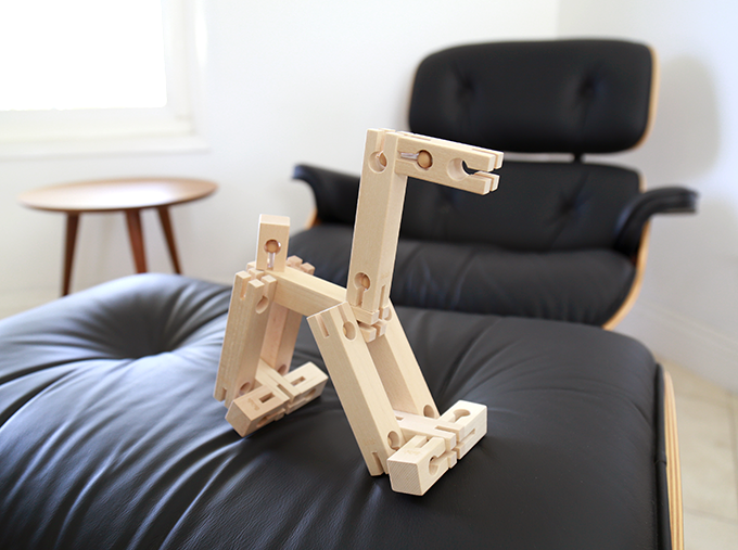 With Bokah Blocks you can let your creativity soar. A contemporary toy with a classic feel, this toy promotes building in new and innovative ways.