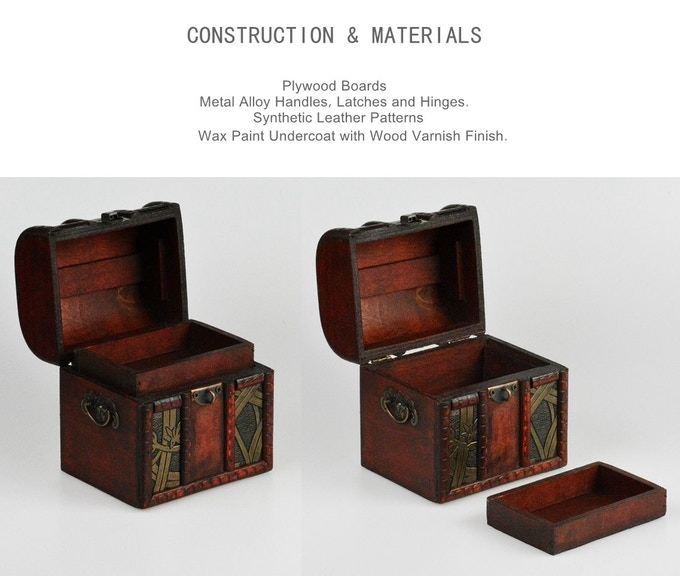 The elven chest comes with a removable internal tray