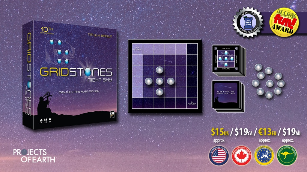 Gridstones: Night Sky - a board game set in the stars project video thumbnail